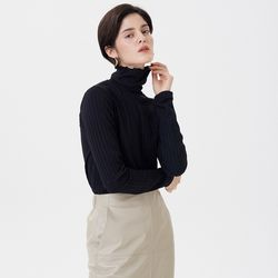 JERSEY REGULAR TURTLENECK BLACK