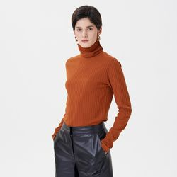 JERSEY REGULAR TURTLENECK ORANGE