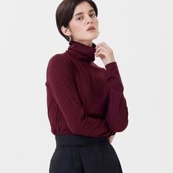 JERSEY REGULAR TURTLENECK WINE