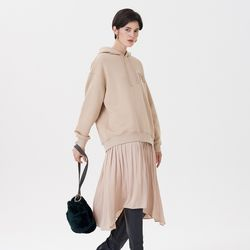 HOOD SHIRRING ONE-PIECE BEIGE