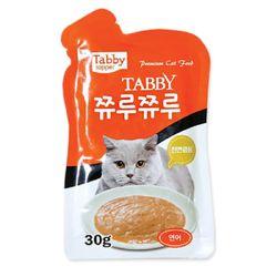 테비 쮸루쮸루 연어 30g 고양이간식고양이사료영양제스프