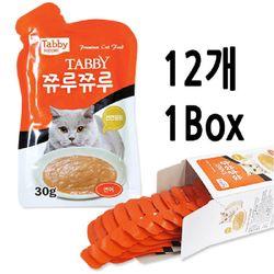 테비 쮸루쮸루 연어 30g - 12개세트 고양이간식고양이영양제