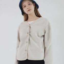 BUBBLE BUTTON FLEECE (BEIGE)