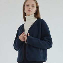 BUBBLE BUTTON FLEECE (NAVY)