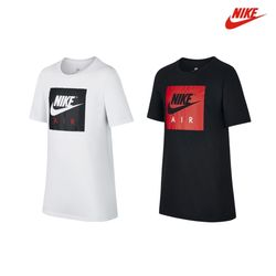나이키 NSW 에어 로고 반팔 티셔츠 화이트블랙