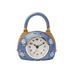 퍼플 플라워 핸드백 시계