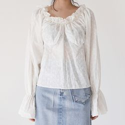 punching lace girl blouse