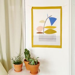 PLANT POT 인테리어 패브릭포스터 가리개커튼