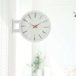 양면에서 시간확인이 가능한 모던양면시계 화이트 A7