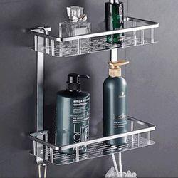 알루미늄 욕실선반 일자선반 2단