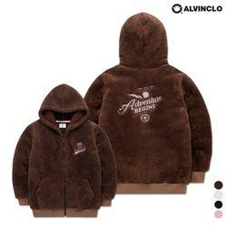 AZH-598 포근한 양털 후리스 후드 집업 자켓