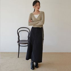 vintage mood long skirt (s m)