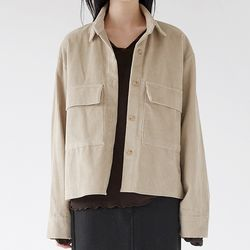 corduroy pocket simple shirts (3colors)