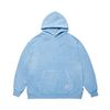SCRAPE PIGMENT OVERSIZED HEAVY SWEAT HOODIE BLUE
