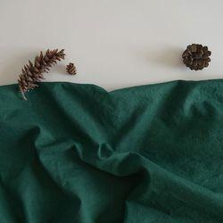 [Fabric] 포레스트 그린 워싱 린넨 Forest Green Washing Linen