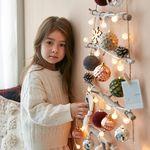 크리스마스 풀세트 벽트리 벨벳 M 전구포함