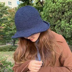 베이직 니트 와이어 벙거지 버킷햇 모자
