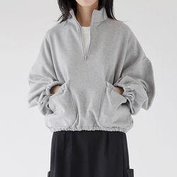 pocket zip-up top (3colors)