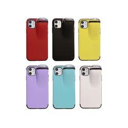아이폰6S 에어팟 수납 범퍼 컬러 하드 케이스 P374