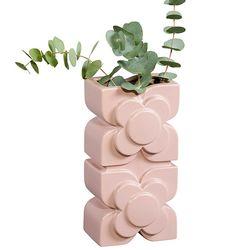 [올라카일리] 인테리어 화병 도자기 꽃병 핑크