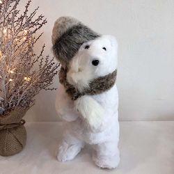 앙증 털모자 크리스마스 곰인형