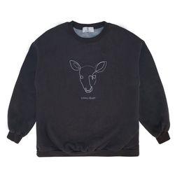 Line Deer MTM - Charcoal ( :라인 디어 맨투맨)