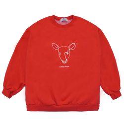 Line Deer MTM - Red ( :라인 디어 맨투맨)