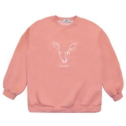 Line Deer MTM - Pink ( :라인 디어 맨투맨)