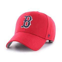 47브랜드 MLB모자 보스톤 레드삭스 레드네이비빅로고 스트럭처