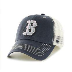 47브랜드 MLB모자 보스톤 네이비메쉬 그레이빈티지빅로고