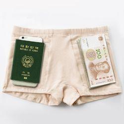 여행용 지퍼 여권 팬티 소매치기방지 속옷
