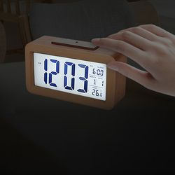 리얼우드 스마트센서 백라이트 전자탁상시계
