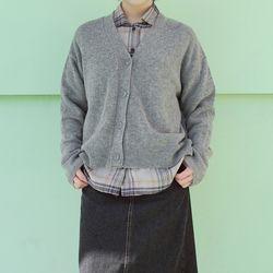 v neck warm cardigan (4colors)