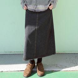 ice washing denim skirts