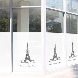 불투명 창문시트 빈티지 에펠 타워