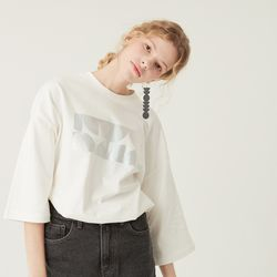 SCREEN T-SHIRT HOLOGRAM WHITE  PLAY SUIT