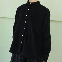 roundly collar corduroy shirt (3colors)
