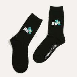 CARE BEARS X RONRON DAILY SOCKS BLACK
