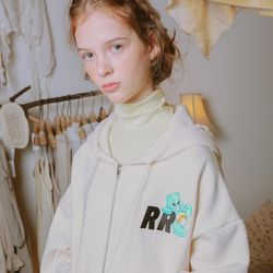 CARE BEARS X RONRON RR LOGO HOOD ZIP-UP CREAM