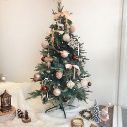 카페골드 크리스마스 트리세트 120cm(앵두전구 2개추가)
