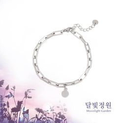 OST 달빛정원 이중체인 커플 여성용 팔찌(OTBT19V07NWW)