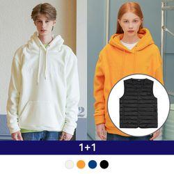 [1+1] Light Down Vest + Basic Fleece Hood