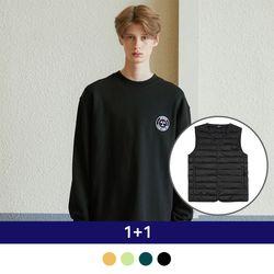 [1+1] Light Down Vest + Flag MTM
