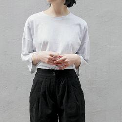 layer maxi cotton tee (gray)