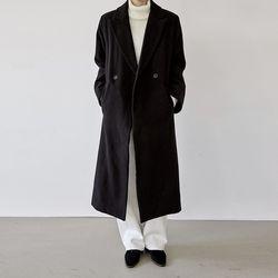 [outer] 원 버튼 스트랩 코트