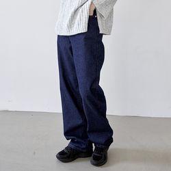[outer] 와이드 딥 데님 팬츠