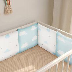 충돌방지쿠션 침대 범퍼쿠션 구름 6P