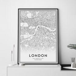런던 지도 그림 인테리어 액자 A3 포스터
