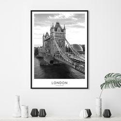 런던 타워브릿지 인테리어 액자 A3 포스터