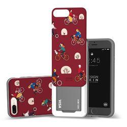 아이폰876플러스 슬라이더 그래픽 라이딩 카드케이스